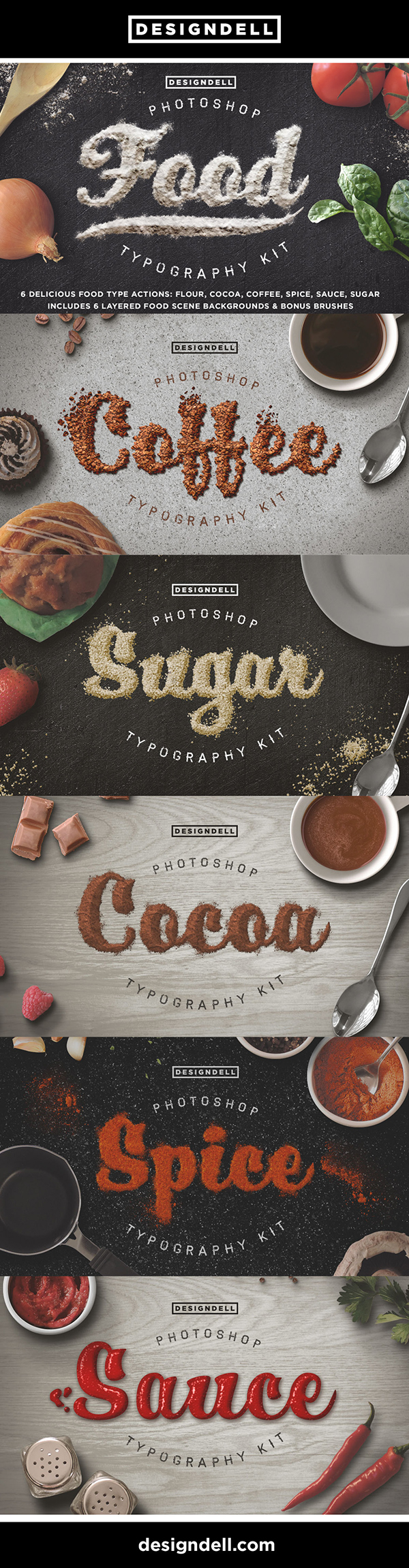 Food Typography Photoshop Effects - Photoshop Actions