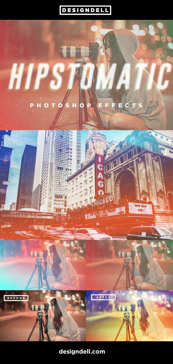 Hipstomatic Analog Vintage Photoshop Effects
