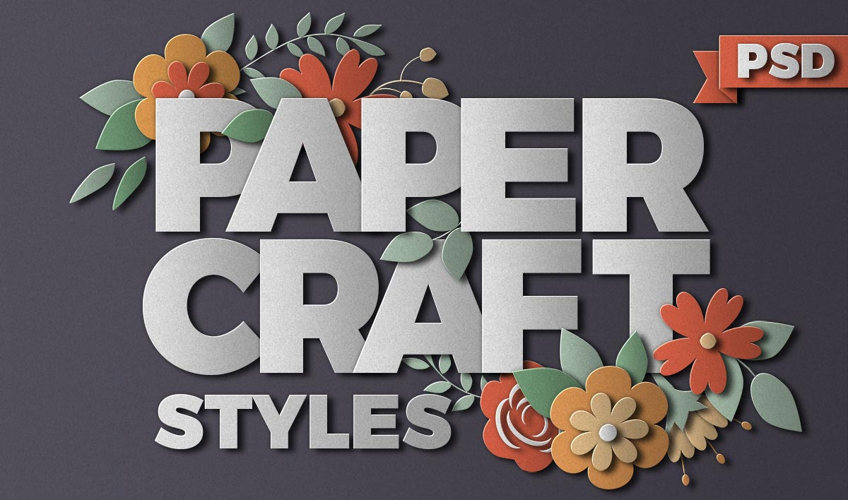 Paper Craft Paper Cut Photoshop Effects Designdell