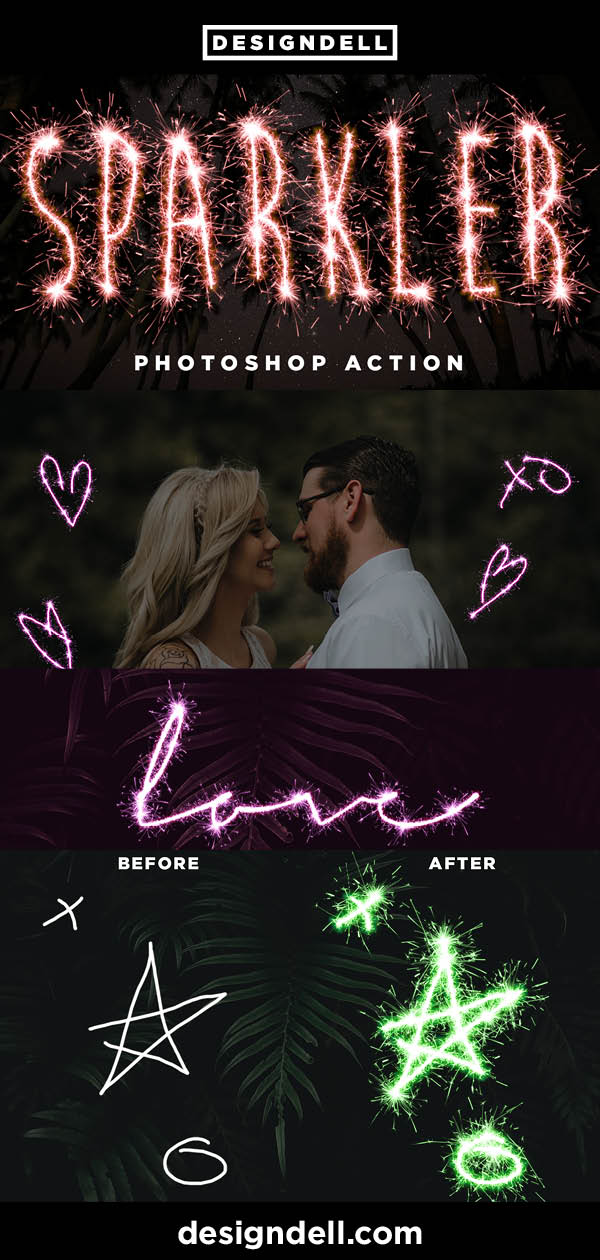 Sparkler Effect Photoshop Action