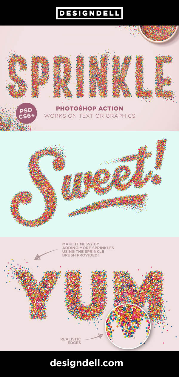 Sprinkle Effect Photoshop Action for Photoshop CS6+