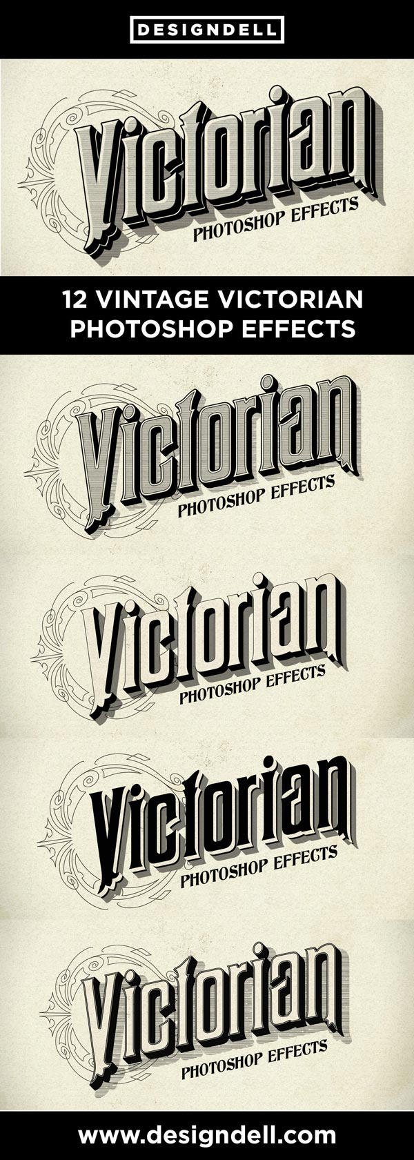 Victorian Photoshop Text Effects - Victorian lettering in seconds